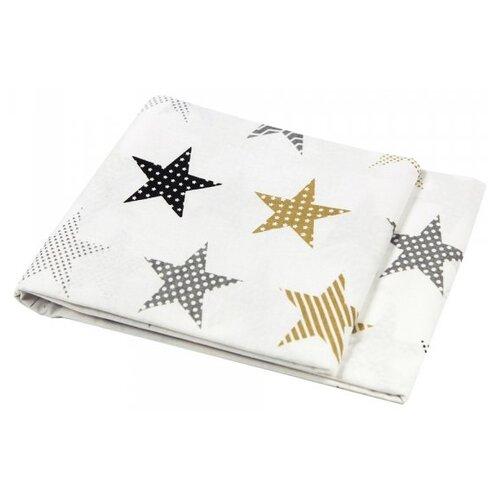 Купить Amarobaby пододеяльник на молнии Звезды пэчворк (бязь) 147х112 см белый, Постельное белье и комплекты