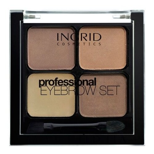 Ingrid Cosmetics Набор для бровей Professional Eyebrow Set коричневый