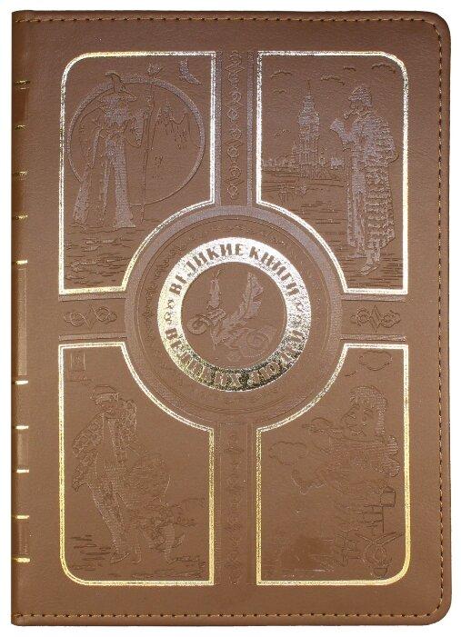 """VIVACASE Кожаный универ. чехол-обложка Book для планшетов и e-book 6"""", коричневый"""
