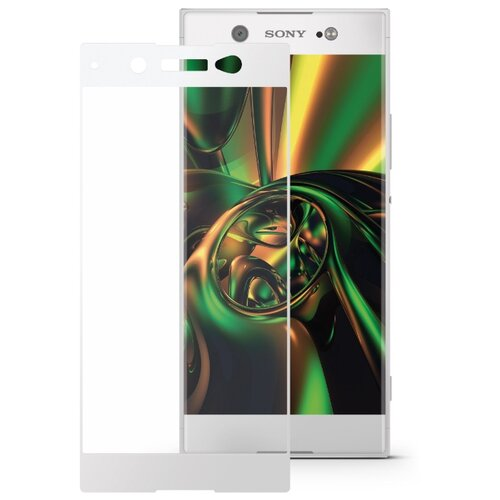 Защитное стекло Mobius 3D Full Cover Premium Tempered Glass для Sony Xperia XA1 Ultra белый смартфон sony g3412 xperia xa1 plus dual 32gb gold