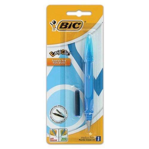BIC перьевая ручка EasyClic, синий цвет чернил смазка chepark bic 100s 150ml