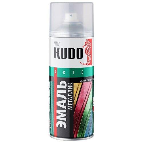 Эмаль KUDO универсальная металлик Silver grain finish оранжевый 520 мл эмаль kudo универсальная металлик reflective finish бронза 520 мл