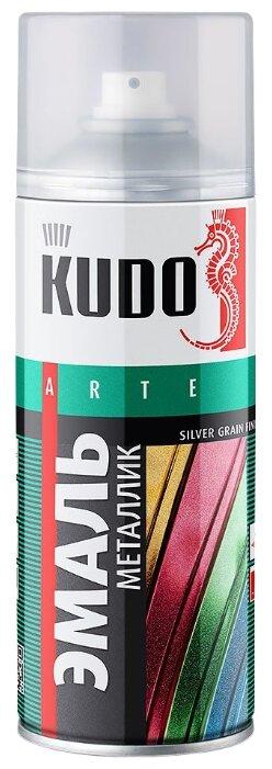 Эмаль KUDO универсальная металлик Silver grain finish