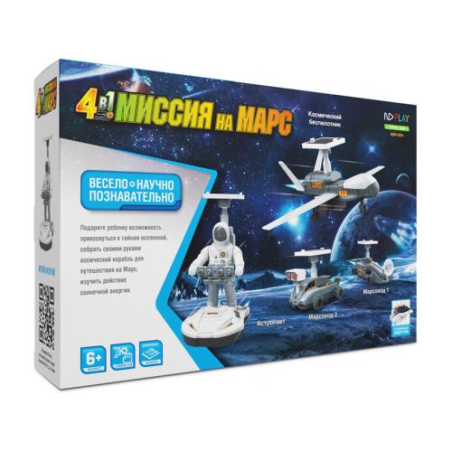 Купить Электромеханический конструктор ND Play На солнечной энергии 277378 Миссия на марс 4 в 1, Конструкторы