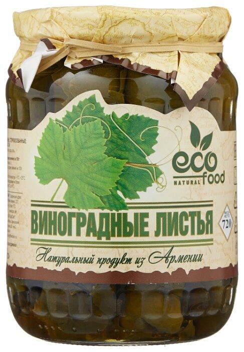 Виноградные листья Ecofood стеклянная банка 720 г