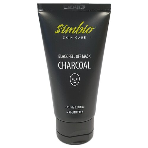Simbio пилинг-маска для лица Charcoal Black peel off mask 100 мл high quality black head remove shrink pores natural bamboo charcoal mask blackhead purifying peel off black face mask