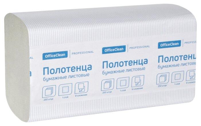 Полотенца бумажные листовые OfficeClean