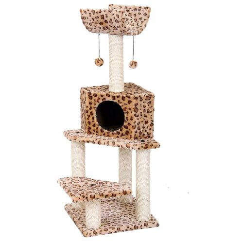 Игровой комплекс Fauna International Bella 40 х 40 х 113 см леопардКогтеточки и комплексы для кошек<br>