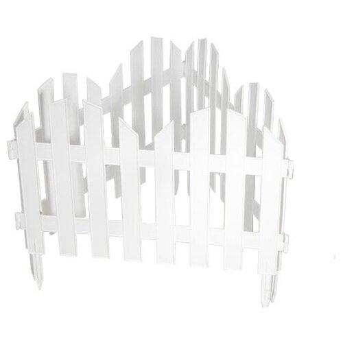 Забор декоративный PALISAD Романтика, белый, 3 х 0.28 м