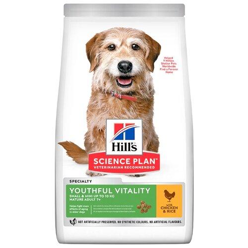 Сухой корм для пожилых собак Hill's Science Plan для здоровья кожи и шерсти, курица с рисом 250г (для мелких пород) сухой корм для собак hill s science plan для здоровья кожи и шерсти курица 300г для мелких пород