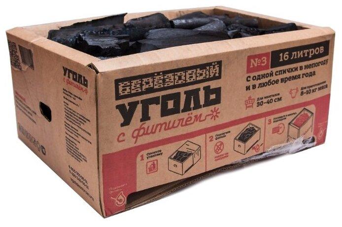 Уголь с фитилём Уголь березовый № 3, 16 л