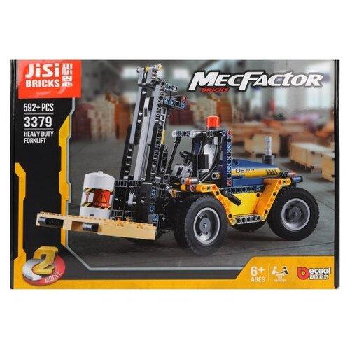 Купить Конструктор Jisi bricks (Decool) MecFactor 3379 Автопогрузчик, Конструкторы