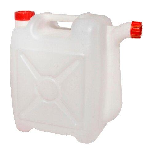 Канистра Альтернатива со сливом М427, 15 л, белый канистра пластиковая со сливом альтернатива м427 15 л