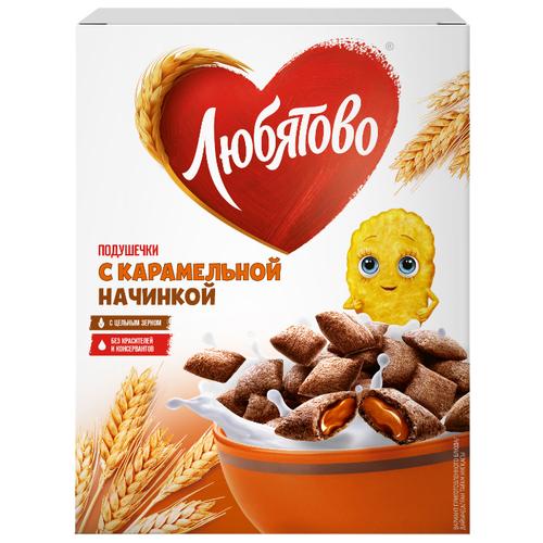 Готовый завтрак Любятово Подушечки карамельные, коробка, 250 г фото