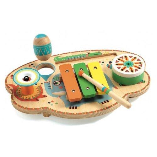 DJECO набор инструментов Карнавал 06027 оранжевый/зеленый/желтый/голубой/розовый набор инструментов oasis jack 496807 оранжевый