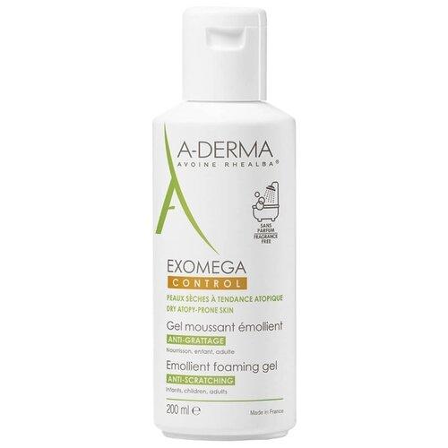 A-Derma Exomega Control Смягчающий пенящийся гель 200 мл a derma exomega gel lavant emollient corps et cheveux гель для тела и волос 2в1 200 мл