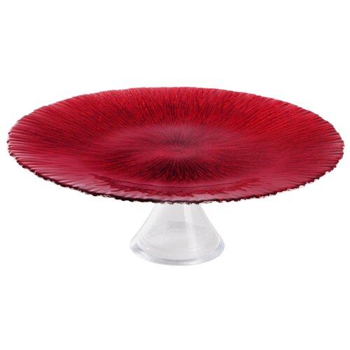 Akcam Тарелка на ножке Рубин 33 см красныйБлюда и салатники<br>