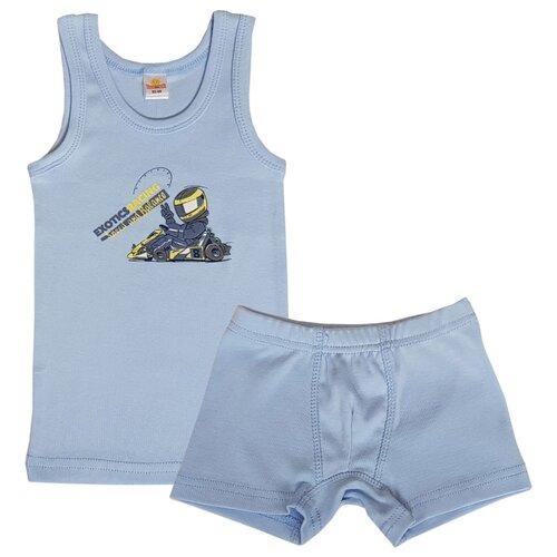 Купить Комплект нижнего белья Папитто размер 104-110, голубой, Белье и пляжная мода
