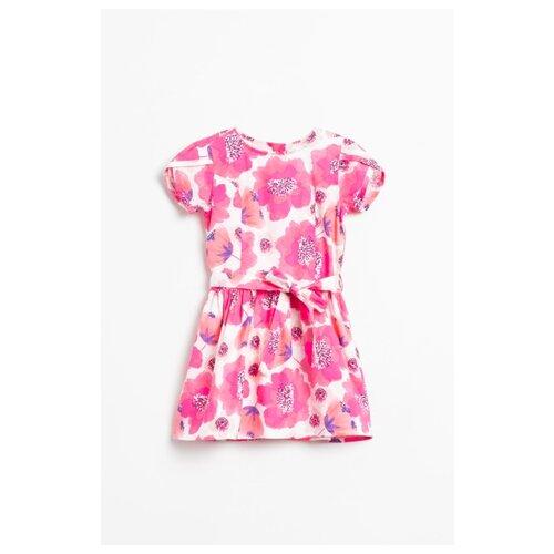 Платье COCCODRILLO размер 104, белый/розовый