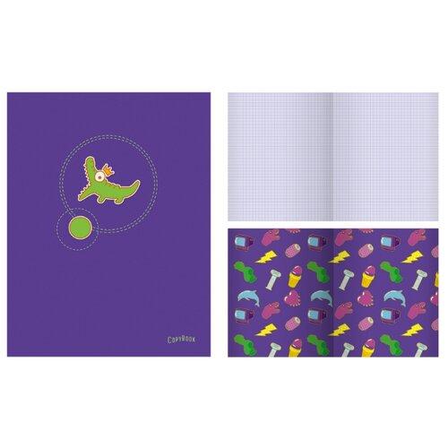 Купить Канц-Эксмо Тетрадь ТК486434 в клетку, 48 л., violet, Тетради