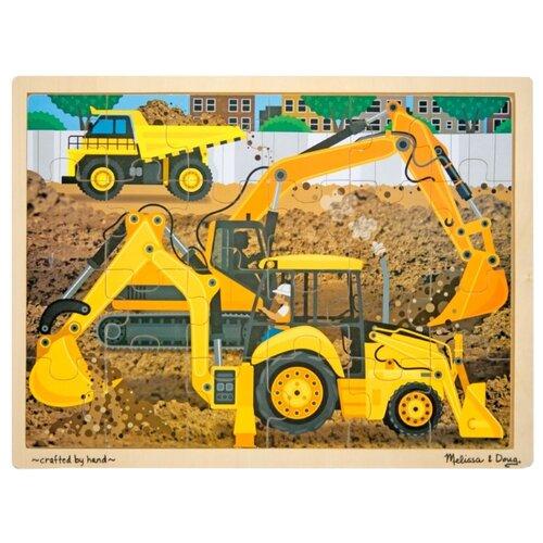 Купить Рамка-вкладыш Melissa & Doug Строительная площадка (9064), элементов: 24 шт., Пазлы
