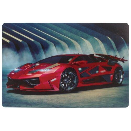 Купить Настольное покрытие BRAUBERG Спортивный авто 43х29 см красный/серый, Аксессуары