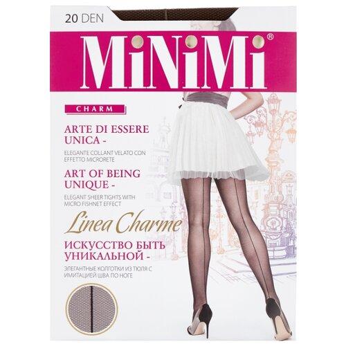 Колготки MiNiMi Linea Charme 20 den, размер 3-M, cappuccino (коричневый) колготки minimi linea charme 20 den размер 4 l cappuccino коричневый