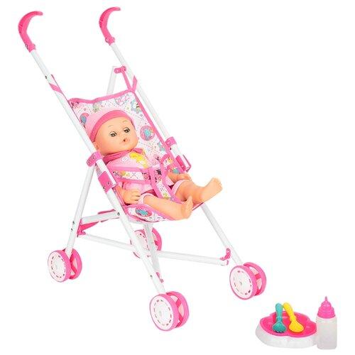 Интерактивный пупс Игруша Tutu Love с коляской, 40 см, i-81862 пупс с коляской one two fun