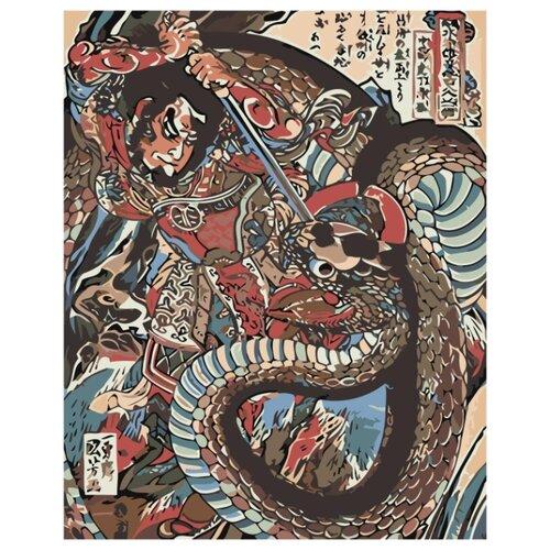 Купить Японская живопись Раскраска картина по номерам на холсте Z-AB332 40х50, Живопись по номерам, Картины по номерам и контурам