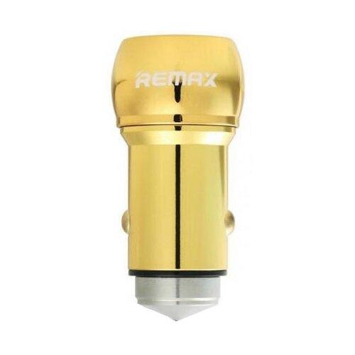 Автомобильная зарядка Remax 2 USB (RCC205), gold