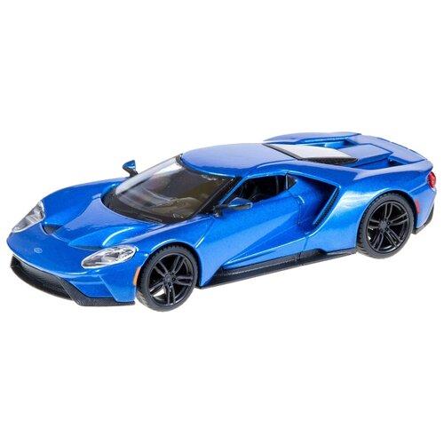 Купить Легковой автомобиль Bburago Street Fire 2017 Ford GT (18-43000/4) 1:32 синий, Машинки и техника