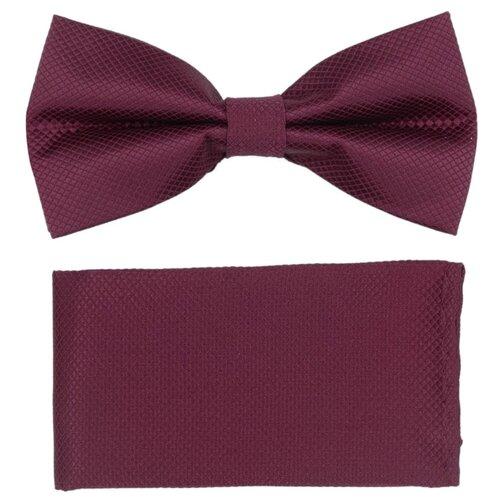 Комплект из 2 предметов OTOKODESIGN галстук-бабочка и платок 537/560 малиновый