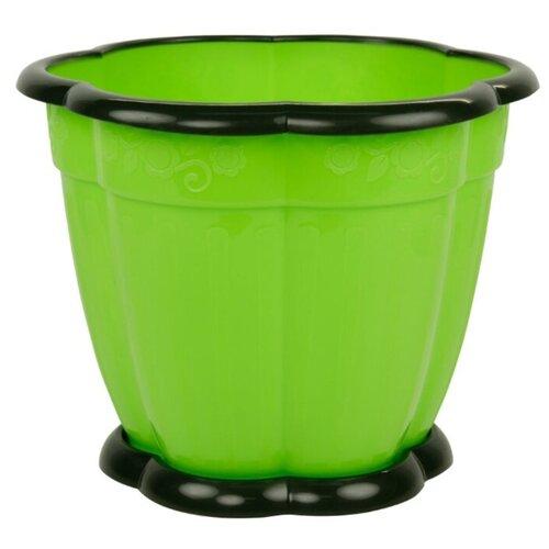 Горшок Альтернатива Восторг, 16х12.2 см зеленый