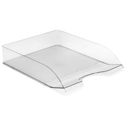 Купить Лоток горизонтальный для бумаги СТАММ Дельта прозрачный, Лотки для бумаги