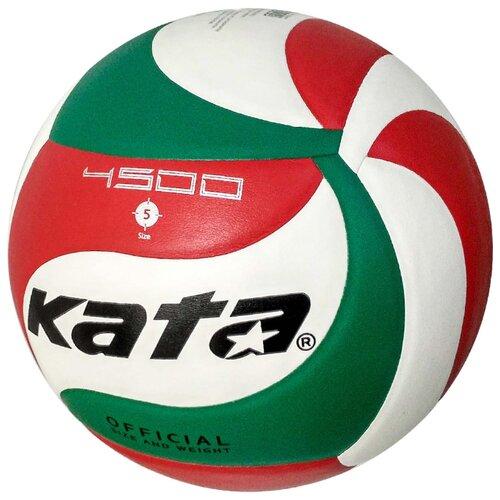 Волейбольный мяч Kata 4500 белый/зеленый/красный волейбольный мяч kata 4500 белый зеленый красный
