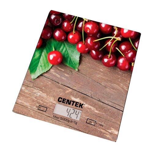 Кухонные весы CENTEK CT-2462 вишня кухонные весы centek ct 2457