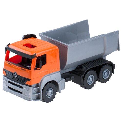 Купить Грузовик ЛЕНА Axor (8879/8880) 25 см оранжевый/серый, Машинки и техника
