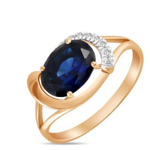Бронницкий Ювелир Кольцо из красного золота R01-D-L-33805-SS, размер 17.5 кольцо из золота r01 d 68997r001 r