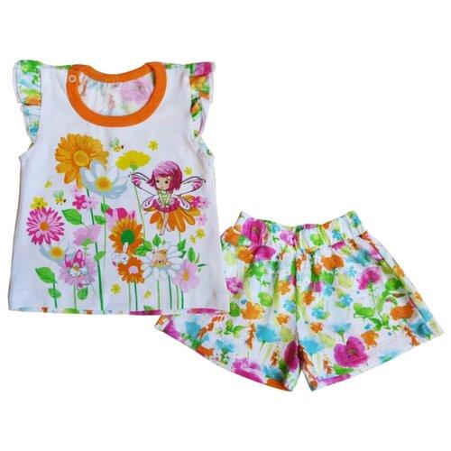 Комплект одежды Sonia Kids размер 92, белый/оранжевый/розовыйКомплекты<br>