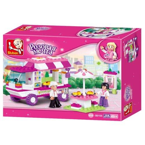 Купить Конструктор SLUBAN Розовая мечта M38-B0155 Кафе, Конструкторы