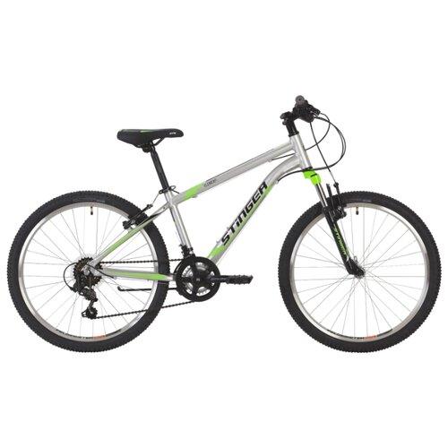 Подростковый горный (MTB) велосипед Stinger Element 24 (2019) silver 12 (требует финальной сборки) велосипед stinger 24 defender 12 5 серый 24 shv defend 12 gr8