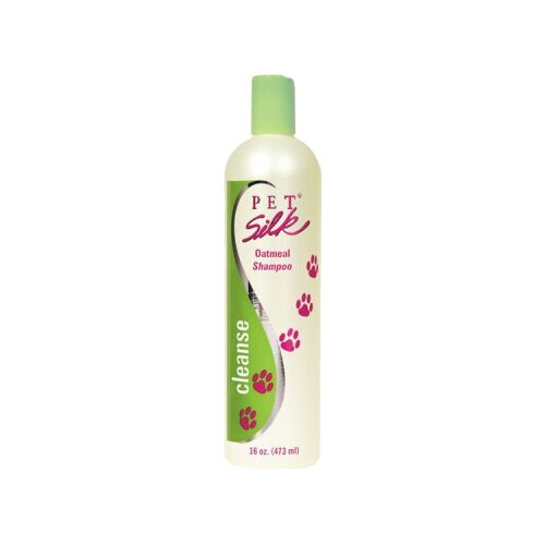 Шампунь Pet Silk Oatmeal Shampoo для кошек и собак с сухой и чувствительной кожей и шерстью 473 млКосметика и гигиена<br>