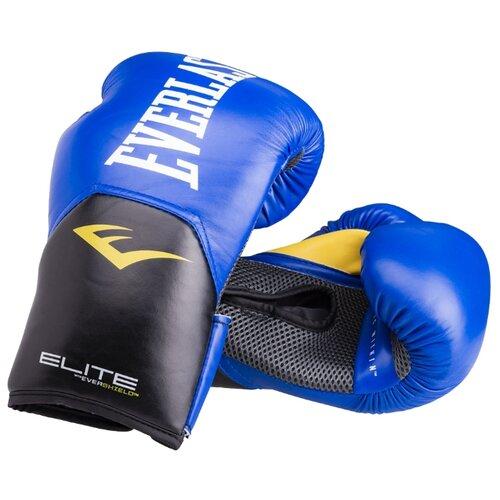Боксерские перчатки Everlast Elite ProStyle синий 8 oz
