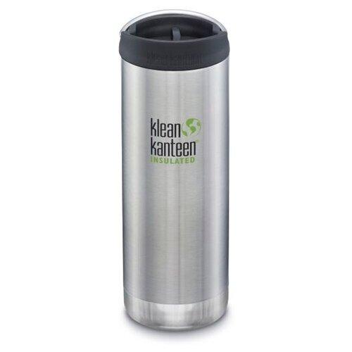 Термокружка Klean Kanteen TKWide Cafe Cap 16oz, 0.473 л brushed stainless
