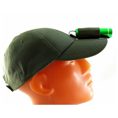 Ручной фонарь SOLARIS T-5 с бейсболкой зеленый