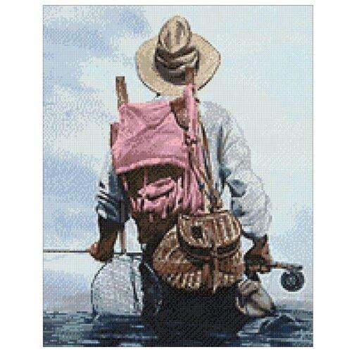 Купить Гранни Набор алмазной вышивки Рыбак (Ag 072) 38х48 см, Алмазная вышивка