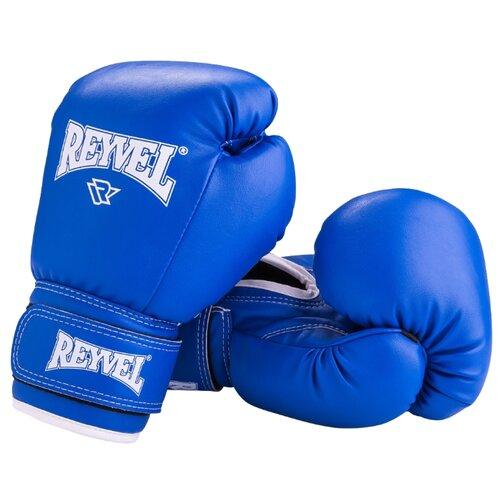 цена на Боксерские перчатки REYVEL RV-101 синий 8 oz