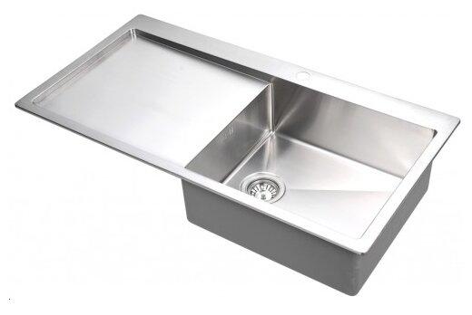 Врезная кухонная мойка AQUASANITA Luna LUN 101M-R 100х51см нержавеющая сталь
