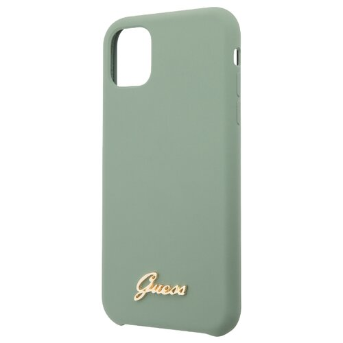 Купить Чехол CG Mobile Guess Silicone collection Gold для Apple iPhone 11 khaki