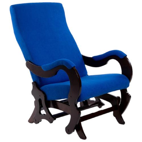 Фото - Кресло-качалка Мебелик Палермо размер: 64х81 см, обивка: ткань, цвет: индиго/орех d 11514